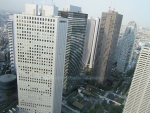 from up the tokyo metropolitan government building