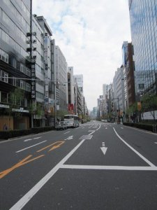 ginza at 7 am on a saturday