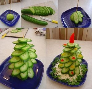 alternative christmas tree cucumber