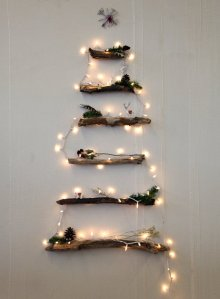 alternative christmas tree wood lights
