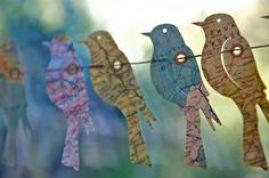 Paper Birds by LaMiaCasa on Etsy