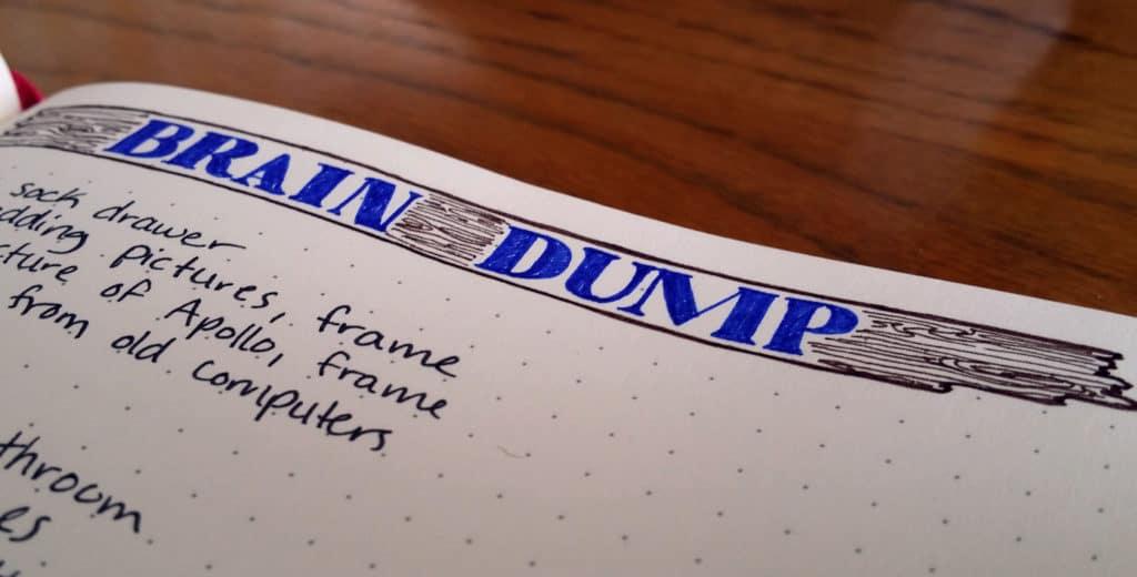Brain Dump in the Bullet Journal header detail   Littlecoffeefox.com