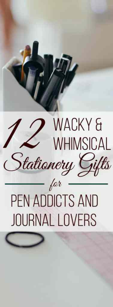 Getting gifts for enthusiasts of any kind is tough. How do you know what they need or want? The way to please your paper-loving friends and family is to get something completely unexpected! Grab some whimsical stationery gifts to tickle your pen obsessed friends! These gifts are sure to delight them every time they see it sitting on their desk or bookshelf. Be a unique gift giving hero!