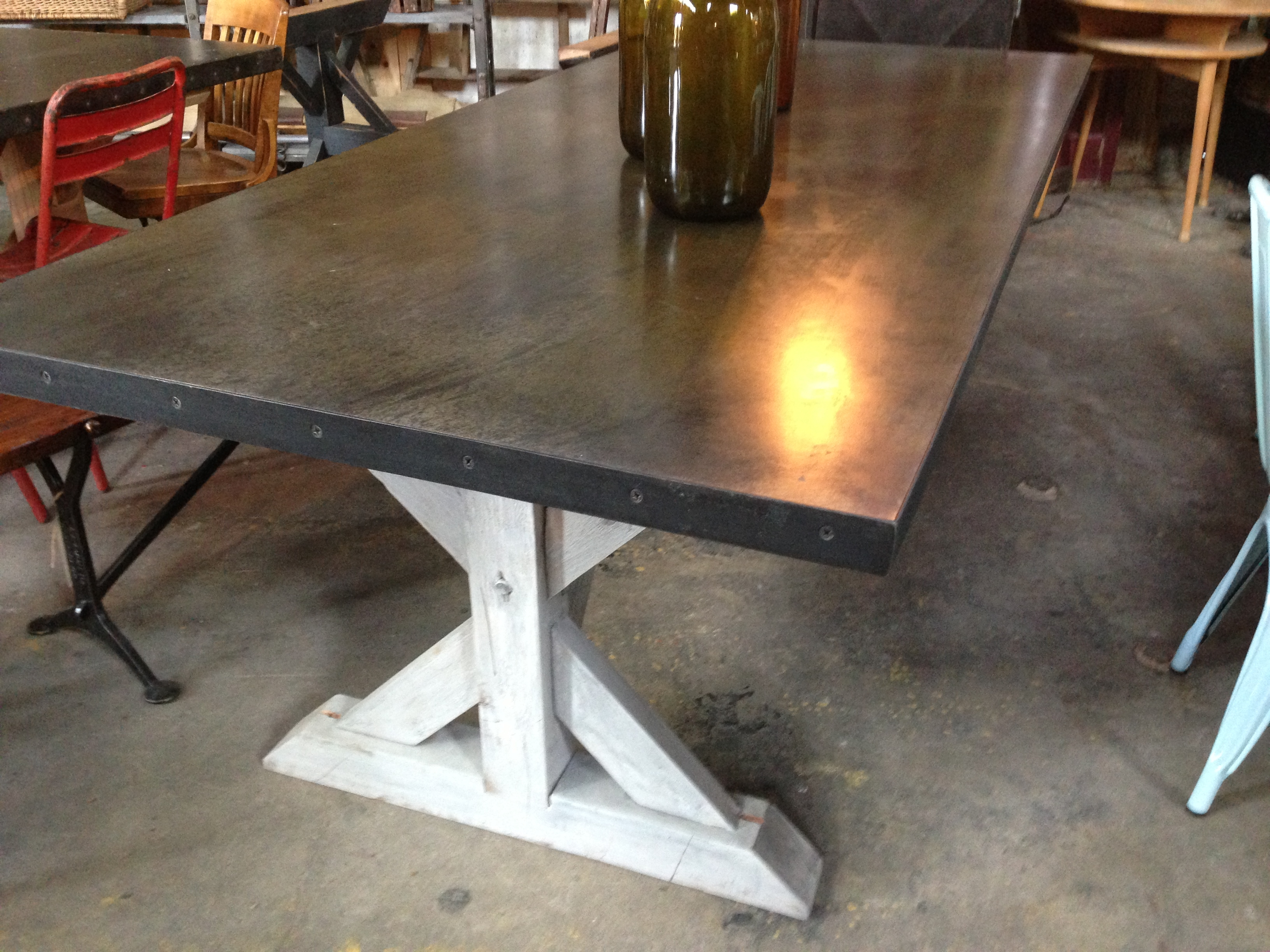 rustic square dining table two tone kitchen table sweet pickins farm table dsc sweet pickins farm table