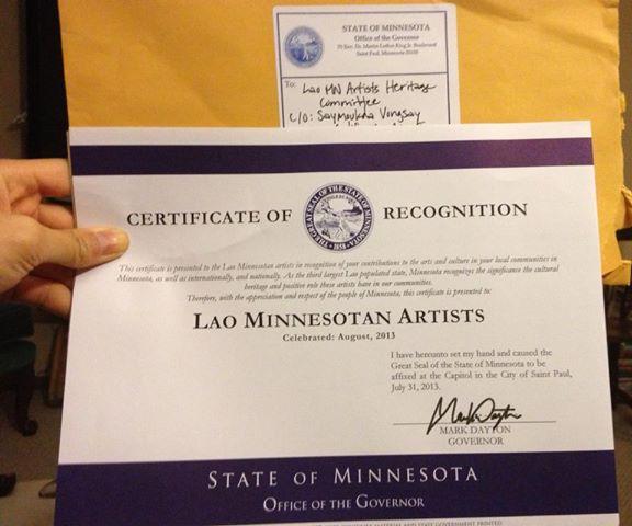 Lao Minnesotan Artist Heritage Month 2013!