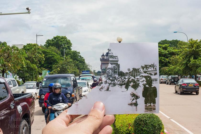 The view towards Patuxai