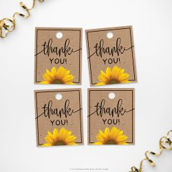 Rousing Printable Sunflower Thank You Tags Printable Sunflower Thank You Tags Little Magic Prints Thank You Tags Pdf Thank You Tags Teachers