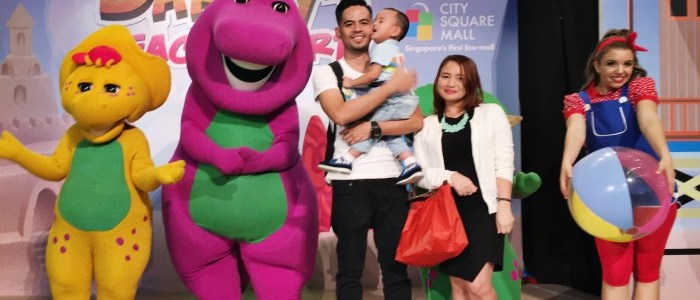 BARNEY'S BEACH PARTY AT CITY SQUARE MALL
