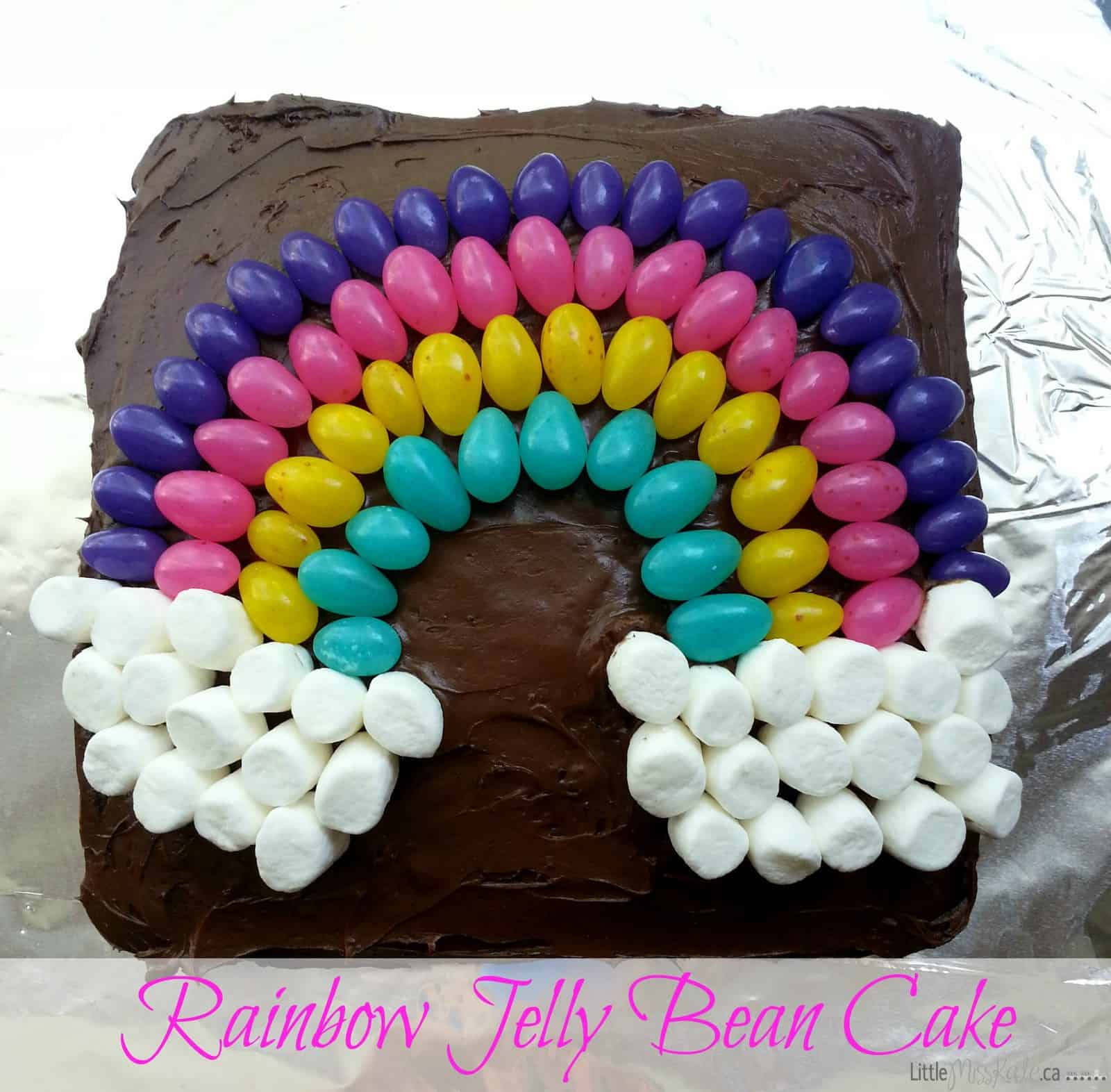 Easy Cake Decorating Idea   Jelly Bean Rainbow Cake   Little Miss Kate Easy Cake Decorating Idea     Jelly Bean Rainbow Cake