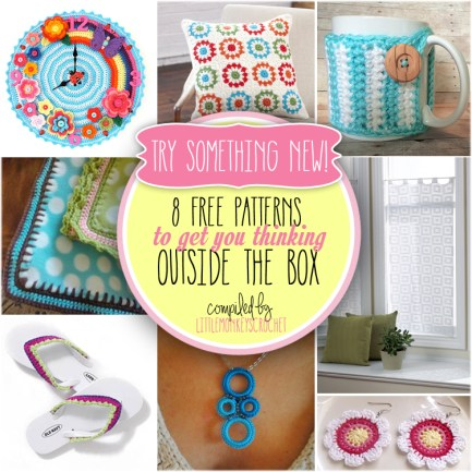 8 Free Crochet Patterns to Get You Thinking Out of the Box | Little Monkeys Crochet