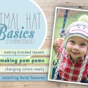 Animal Hat Basics: How to Make Pom Poms by Little Monkeys Crochet     Learn how to make a pom pom, how to change colors neatly in the round, how to make braided tassels for your earflaps, and how to attach facial features in this multi-part series by Little Monkeys Crochet.