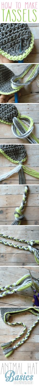 How to Make Tassels | Photo Tutorial by Little Monkeys Crochet