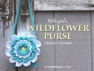 Little Girl's Wildflower Purse  |  Free Crochet Pattern by Little Monkeys Crochet