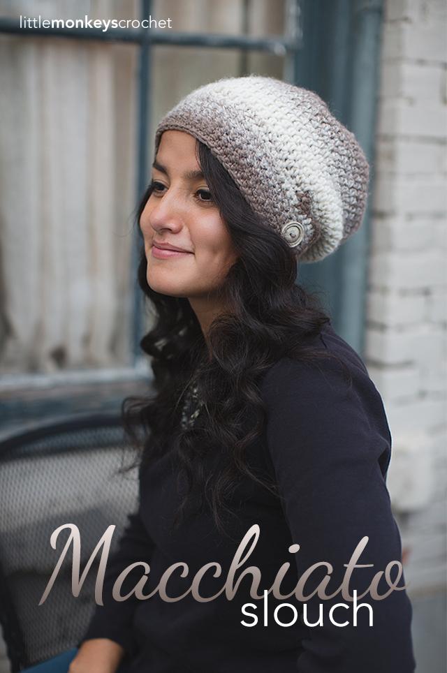 Macchiato Slouch Crochet Hat     Free Slouchy Hat Crochet Pattern by Little Monkeys Crochet
