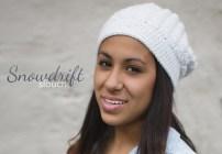 Snowdrift Slouch Crochet Hat  |  Free Slouchy Hat Crochet Pattern by Little Monkeys Crochet