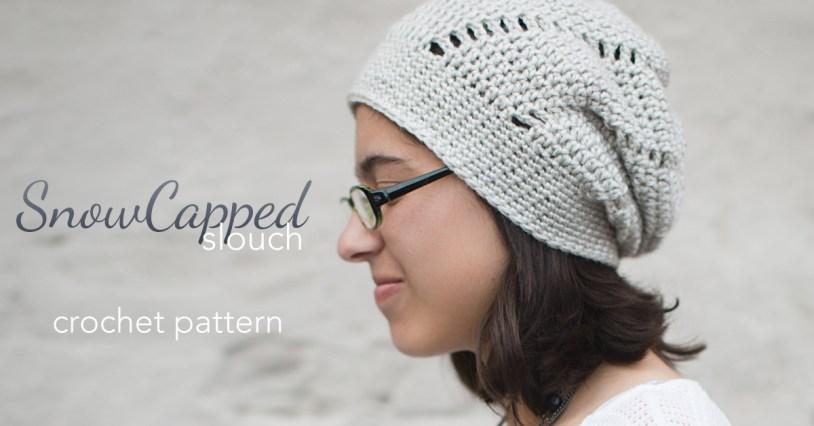 Snowcapped Slouch Crochet Hat  |  Free Slouchy Hat Crochet Pattern by Little Monkeys Crochet