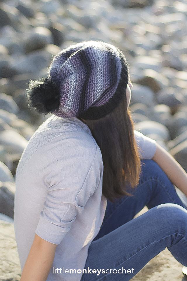 Sophia Slouch Crochet Pattern | Free slouchy hat crochet pattern by Little Monkeys Crochet
