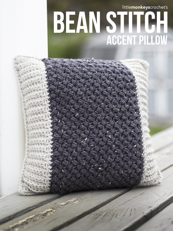Bean Stitch Accent Pillow
