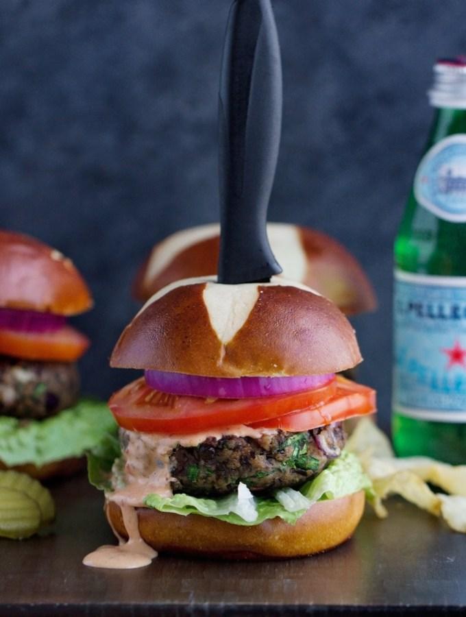 Mushroom-Black-Bean-Burgers-with-Chipotle-Sauce-4