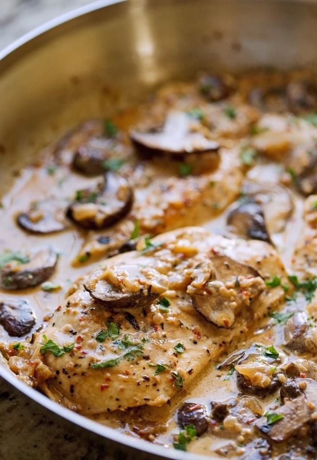 One-Skillet-Chicken-with-Garlicky-Mushroom-Cream-Sauce-2