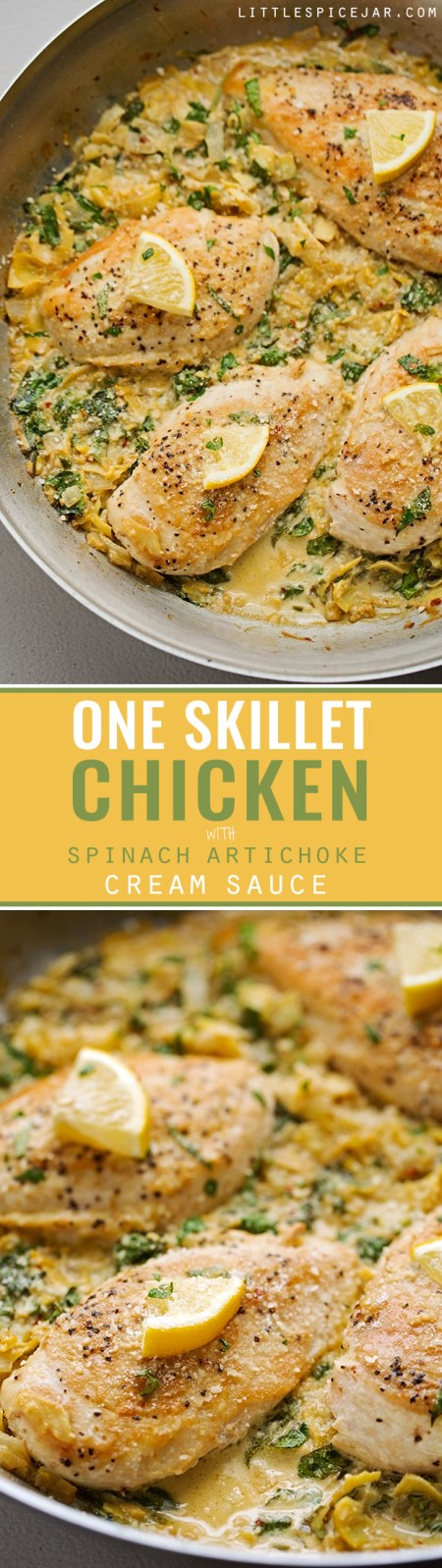 One-Skillet-Chicken-with-Spinach-Artichoke-Cream-Sauce-3
