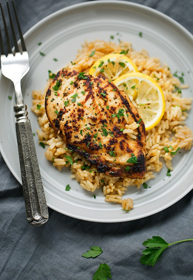 One-Pot-Greek-Chicken-with-Rice-Pilaf