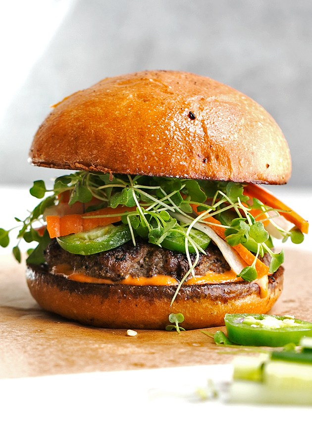 Banh-Mi-Burger-with-Spicy-Mayo
