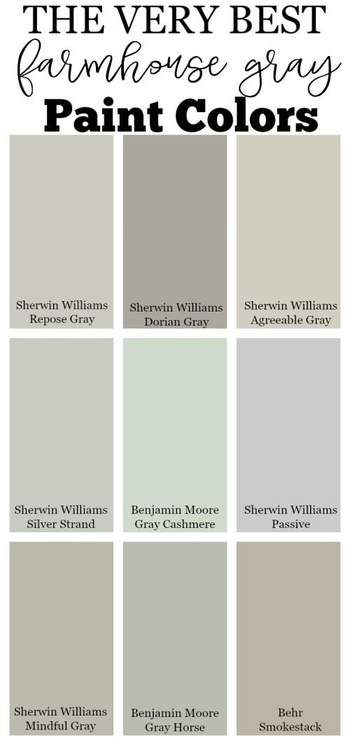 Medium Of Farmhouse Paint Colors
