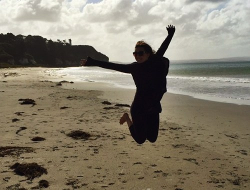 Jumping at Nunn's Beach, VIC