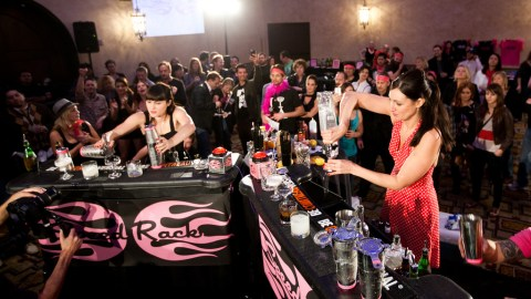 These ladies show off their skills and duel it out. (Photo courtesy of Speed Rack.)