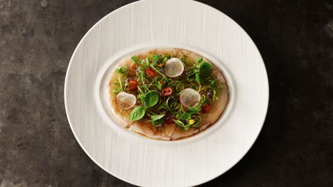This isn't General Tso's Chicken. Chinese cuisine in American has come a long way, an example being Waldorf Astoria New York's newly opened La Chine serving this fluke dish. (Photo: La Chine.)