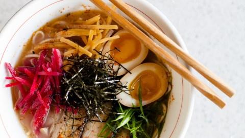 The broth for the Seito Sushi's tonkotsu ramen takes several days to make. (Photo courtesy of Seito Sushi.)