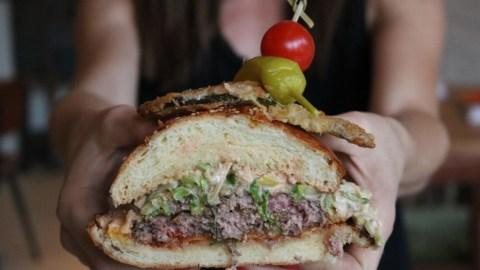 The Church Key's Dagwood Burger will be at Coachella. (Photos: Holly Liss.)