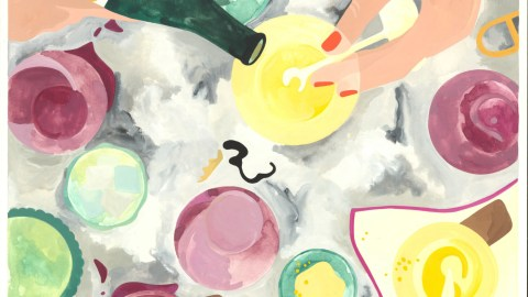 New York City's Lower East Side is the epicenter of natural wine. (Illustrations: Erika DaSilva.)