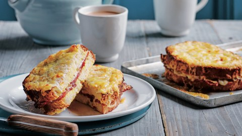 eggy bread with bacon and cheese recipe