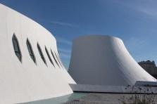 火山をイメージした文化施設