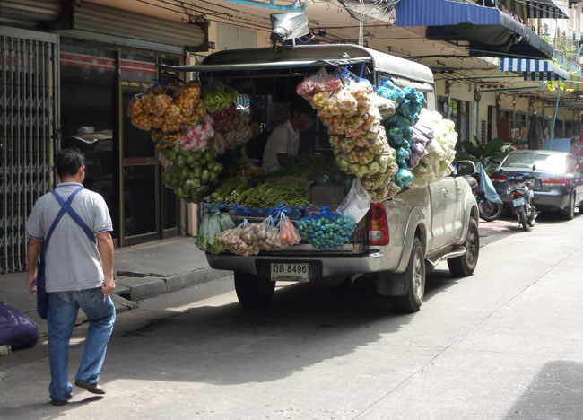 Vegetable Van, Bangkok Street Food Street, Southeast Asia