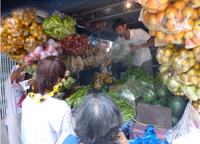 Grocery Shopping Van, Bangkok Street Food Street, Southeast Asia