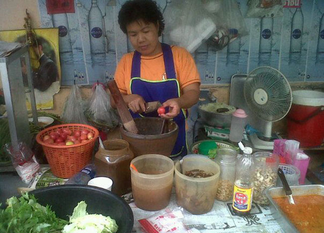 Som Tam Korat, Bangkok Street Food Street, Southeast Asia