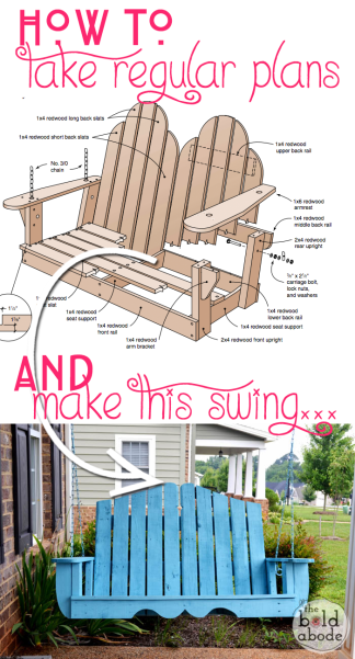 Diy pallet porch swing dan330 for How to make a pallet porch swing