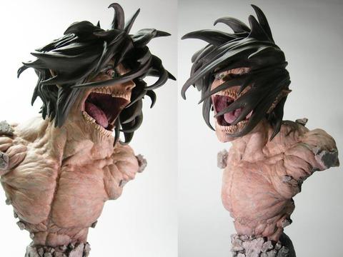 大山竜 巨人エレン胸像 進撃の巨人 ワンフェス