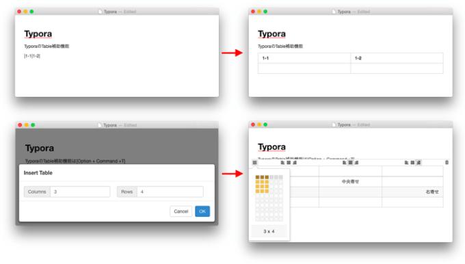Typora-Table-input