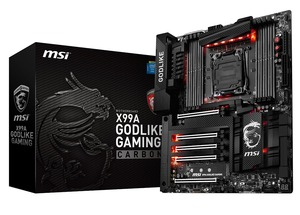 MSI、Intelの次期CPU「Broadwell-E」対応をうたうX99マザー「X99A GODLIKE GAMING CARBON」を発売