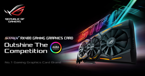 ASUSのオリファン ROG STRIX-RX480-O8G-GAMINGは8月中旬に発売か