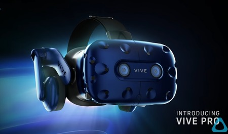 HTC Vive Pro発表! ワイヤレス対応、解像度2880×1600
