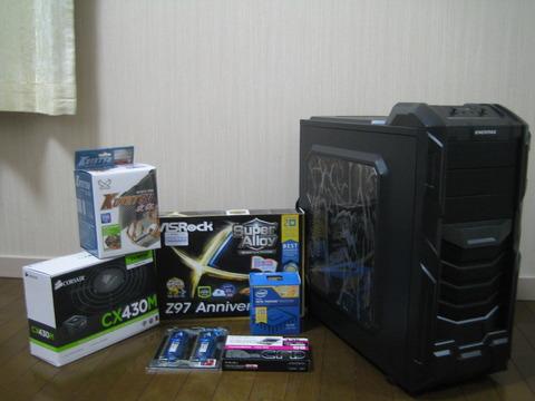 初めて自作PCやるで