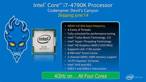 【Devil's Canyon】「Core i7-4790K」を正式発表、次世代ポリマーTIM採用