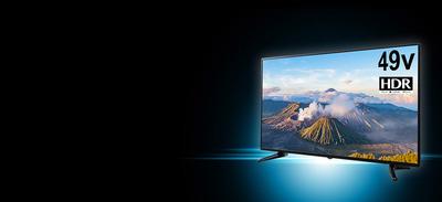 4Kテレビ、1インチ1000円相次ぐ ゲオも4K/HDR対応 49V型液晶テレビを4万9800円で発売