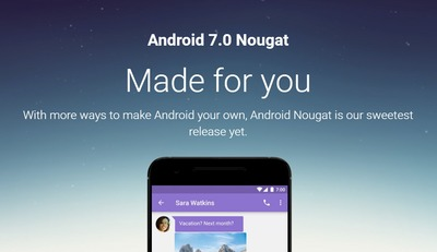 Google、「Android 7.0 Nougat」を正式リリース