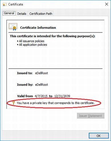 DellのPCに不審なルート証明書がプリインストール、Lenovoと同じ問題か